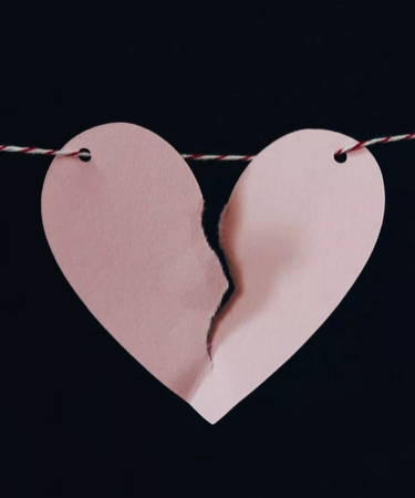 torn paper heart for the play 8 minutes, 20 seconds